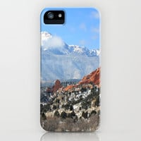 Snow at the Garden of the Gods, Colorado Springs iPhone Case by Trinity Bennett