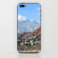 Snow at the Garden of the Gods, Colorado Springs iPhone & iPod Skin by Trinity Bennett