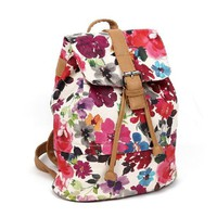 Printed Flora Backpack B  Faboutique