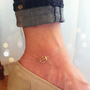 Sideways anchor anklet 14K gold filled chain par Lookatmeshop