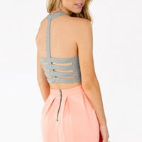 Naughty Back Crop Top $16