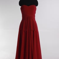 2013 Fashionable A-line empire waist chiffon dress for bridesmaid Prom Dresses Evening Gown