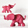 Hot Pink Elephants Safari in Magenta Glitter for by wishdaisy