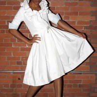 SIMONA TRENCH Bridal Coat dress by daniellecicero on Etsy