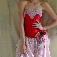 Seraphin Corset Dress... Size S/M... whimsical alternative eco friendly fairy free people bridesmaid romantic