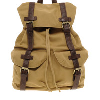 ASOS Canvas Backpack With Contrast Straps.