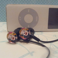 Trendy Marilyn Monroe black Earbuds