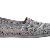 Silver Crochet Women&#x27;s Classics | TOMS.com