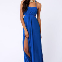 Aryn K Hail A Maxi Blue Maxi Dress