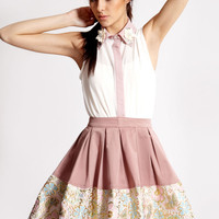 Boutique Dawn Brocade Hem Prom Skirt