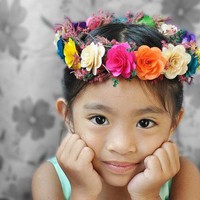 Flower Girl Headdress or Crown | AccentsandPetals - Wedding on ArtFire