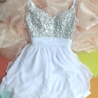 Beautiful A-line Spaghetti Straps Mini Chiffon Prom Dress