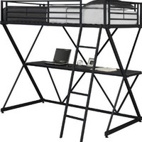Dorel Home Products X-Loft Bunk Bed, Black: Home & Kitchen
