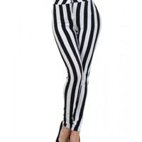 High Waisted Stripe Leggings