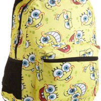 Amazon.com: Nickelodeon Girls 7-16 Allover Spongebob Print Backpack, Yellow, One Size: Clothing