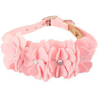 Designer Dog Collar- Fancy Pet Collars, Pink Dog Collar, Jeweled Puppy Collar, Small Teacup Collar