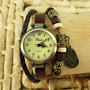 Handmade Ethnic Style Beaded Bracelet Watch with a Dial Pendant