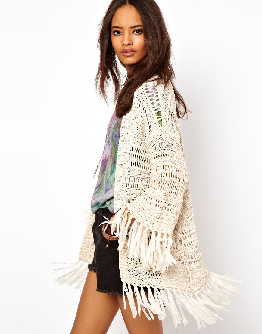 Crochet Kimono : ASOS Kimono Cardigan In Crochet With from ASOS