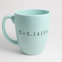 Mint Coffee Mug with Pi 3.14