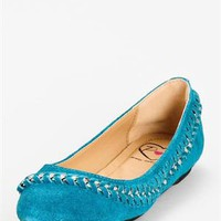 Penny Loves Kenny Farley Chain Flats - Color Trend: Shades of Blue Shoes - Modnique.com