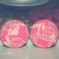 Hot Pink Lace Earrings (or choose your own color)
