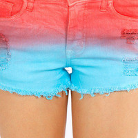 Sunset Cutoff Shorts $35