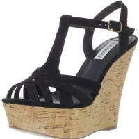 Amazon.com: Steve Madden Women's Wildness T-Strap Wedge: Shoes
