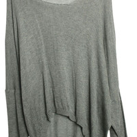 ROMWE | Oversized Loose Grey Cardigan, The Latest Street Fashion