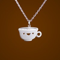 Happy Teacup Necklace