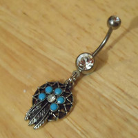 Dream Catcher Belly Button Ring - Belly Button Ring