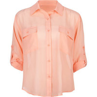 ALI &amp; KRIS Double Pocket Womens Chiffon Shirt