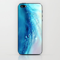 blue feather iPhone & iPod Skin by Sylvia Cook Photography