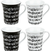 Konitz Mugs, Set of 4 Assorted Vivaldi Libretto - Casual Dinnerware - Dining &amp; Entertaining - Macy&#x27;s