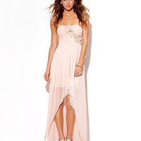 City Studios Juniors Dress, Strapless High-Low Illusion - Juniors Dresses - Macy's