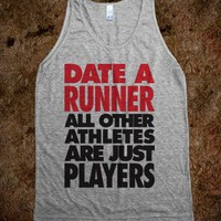 Date A Runner (Tank)-Unisex Athletic Grey Tank