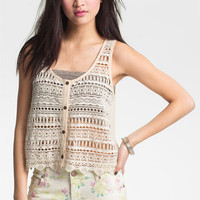 Chloe K Crochet Tank (Juniors) | Nordstrom