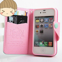 jullygo  [grlhx110059]Cute Mint &amp; Pink Iphone 4/4s/5 case