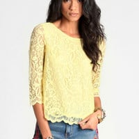 Pure Sunlight Lace Blouse - $48.00 : ThreadSence, Women's Indie & Bohemian Clothing, Dresses, & Accessories