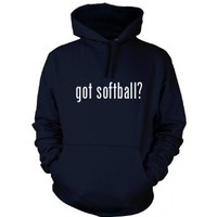got softball? Funny Hoodie Sweatshirt Hoody Humor - Many Sizes and Colors!: Clothing