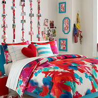 Teen Vogue Bedding, Poppy Art Floral Twin Comforter Set - Bed in a Bag - Bed &amp; Bath - Macy&#x27;s