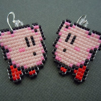 Kirby Pixel Earrings