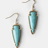 Canyon Edge Arrowhead Earrings - $16.00 : ThreadSence, Women&#x27;s Indie &amp; Bohemian Clothing, Dresses, &amp; Accessories