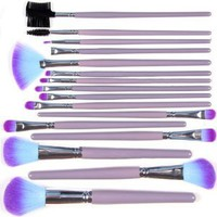 Amazon.com: Kingmys 16 Pcs Professional Makeup Cosmetic Brush Set Kit With Pouch Bag Case Purple: Beauty