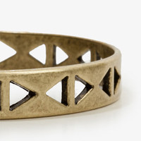 Triangle Cutout Bangle | FOREVER 21 - 1027704283