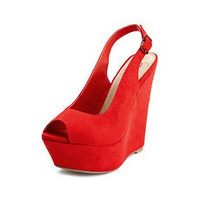 Sueded Slingback Wedge: Charlotte Russe