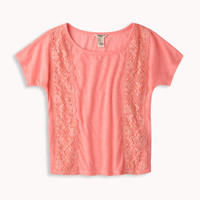 Lace Paneled Tee
