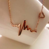 TItanium Heartbeat Necklace