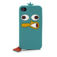 Disney IP1657 Character Suit Silicone Case for iPhone 4/4S - 1 Pack - Retail Packaging - Perry: Cell Phones & Accessories