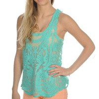 Anything's Poshible Tank in Teal - New Arrivals