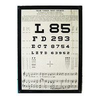 Three Potato Four - 1935 Near Vision Test Chart Plaque